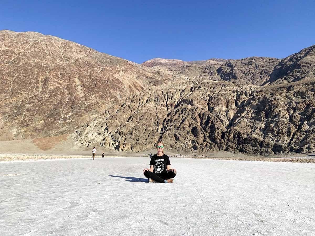 death valley badwater basin salt flats