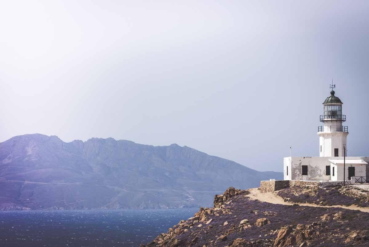 mykonos church view