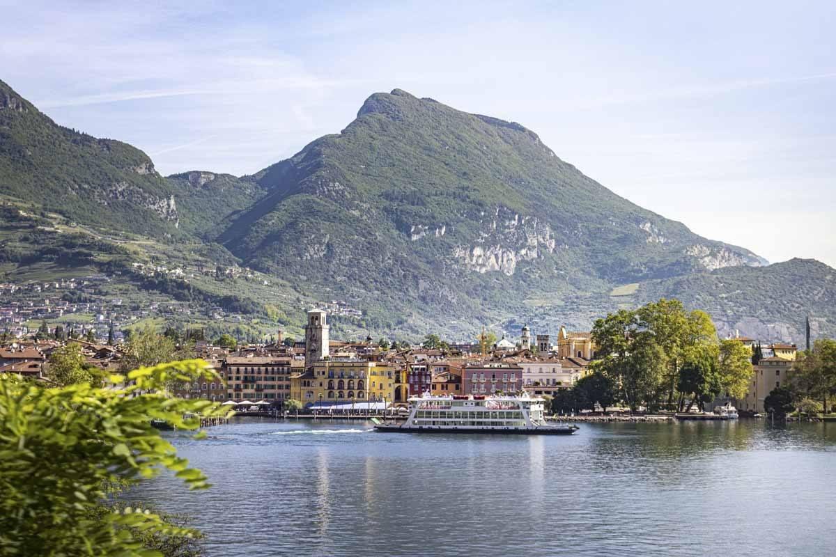Riva del Garda as seen from Pregasina, a little village on the m