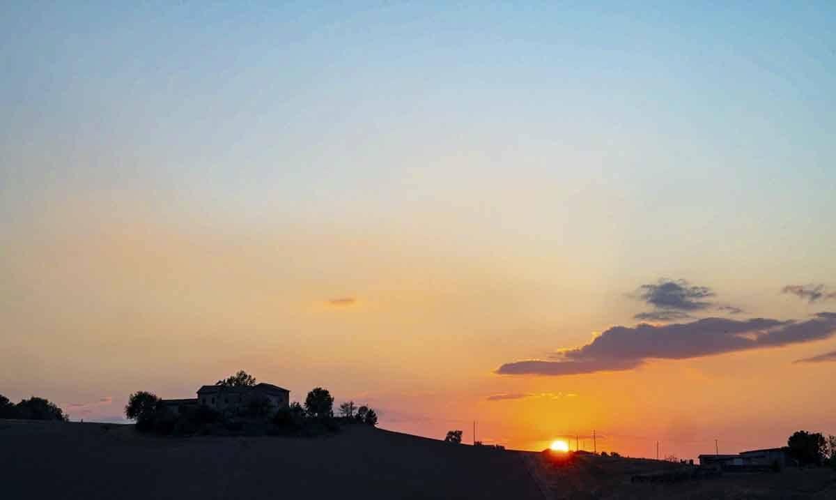 sunset alba del borgo